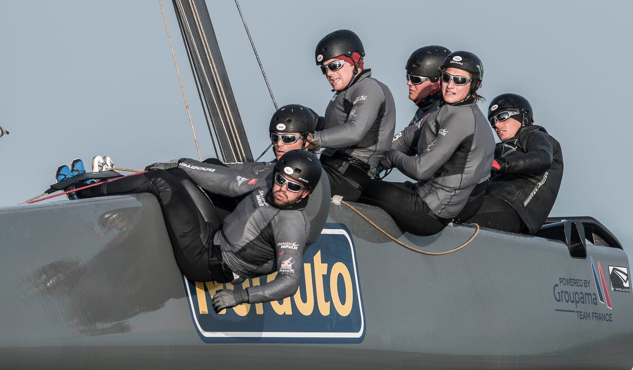 QUIBERON - FRANCE: Spanish Impulse America's Cup youth team trains at Port Haliguen Quiberon on February 9 2017 in Quiberon, France. Photo by Xaume Olleros for LiP Sunglasses